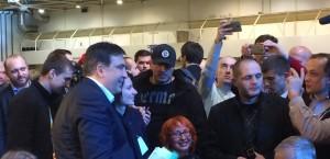 Михаил Саакашвили на Антикоррупционном форуме в Киеве, 23 декабря 2015