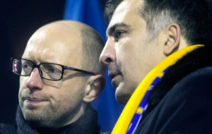 Яценюк и Саакашвили