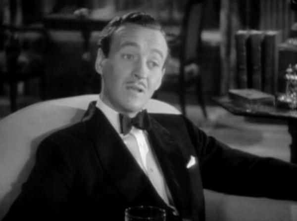 Дэвид Нивен в роли Берти Вустера, 1936